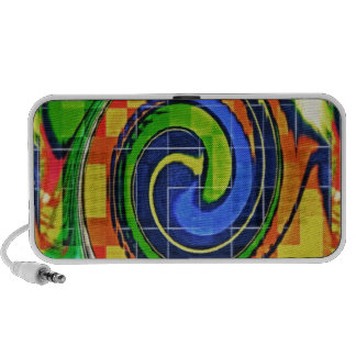 Colorful Graphic Swirls Notebook Speakers