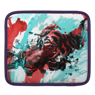 Colorful Graphic Tiger Style iPad Sleeve
