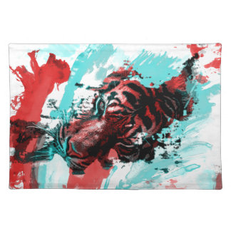 Colorful Graphic Tiger Style Place Mat