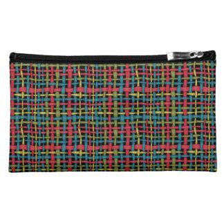 Colorful Graphic Woven Burlap Vivid Cosmetic Bags
