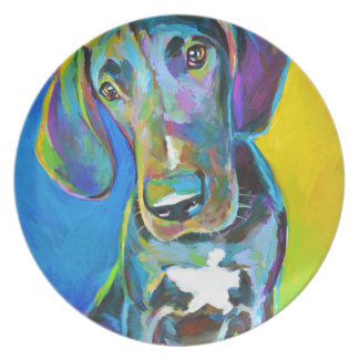 Colorful GREAT DANE Plate