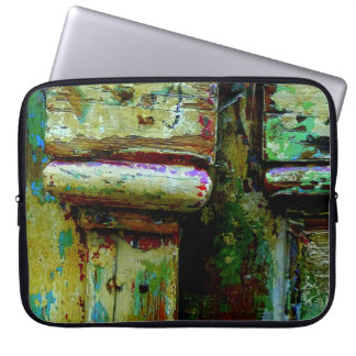 Colorful greek door laptop sleeve. laptop sleeve