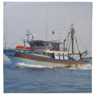 Colorful Greek Fishing Boat Napkins