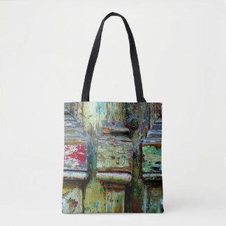 Colorful greek tote bag.