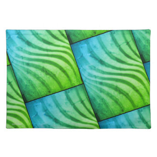 Colorful Green 3-D Swirl Placemat