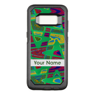 Colorful Green Abstract Design OtterBox Commuter Samsung Galaxy S8 Case