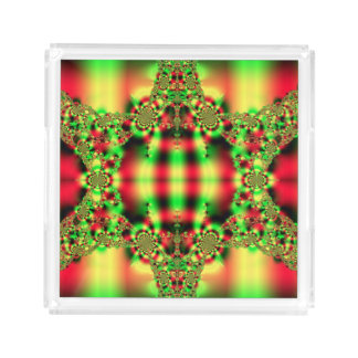 Colorful Green and Red Tartan
