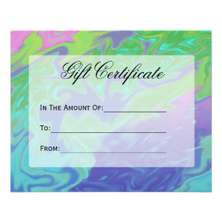 Colorful Green Blue Gift Certificate Flyer