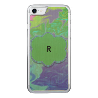 Colorful Green Blue Splash Abstract Carved iPhone 7 Case
