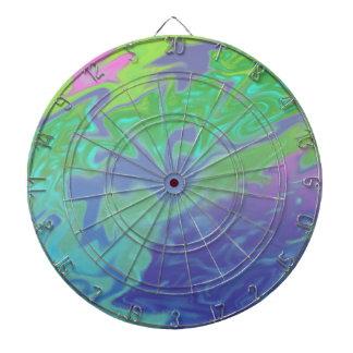 Colorful green blue splash abstract dartboard