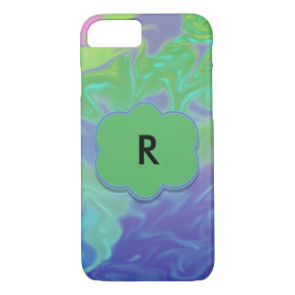 Colorful Green Blue Splash Abstract iPhone 7 Case