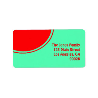 Colorful green red mod label
