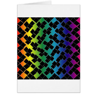 Colorful grid background greeting card