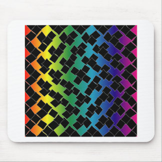 Colorful grid background mouse pad