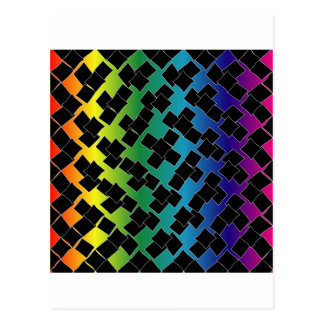 Colorful grid background postcard