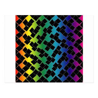 Colorful grid background postcard