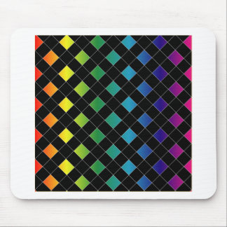 Colorful grid mouse pad