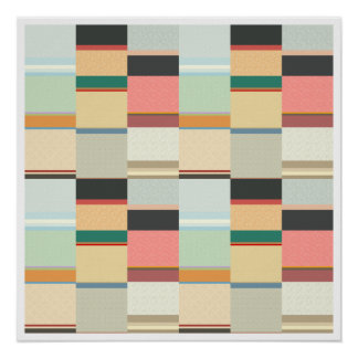Colorful Grid Pattern Poster