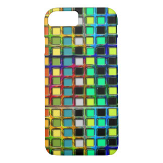 Colorful Grid-Tiled by Shirley Taylor iPhone 8/7 Case
