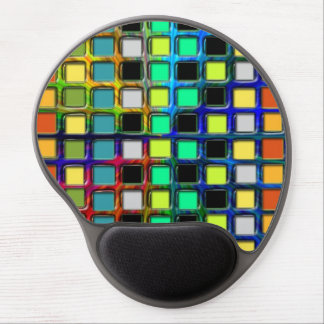 Colorful Grid-Tiled Gel Mouse Pad