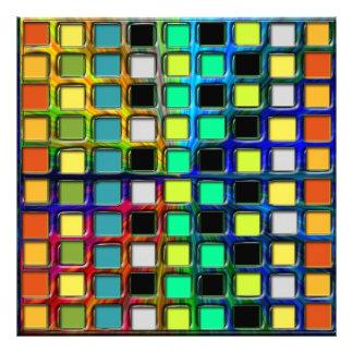 Colorful Grid-Tiled Photo Art