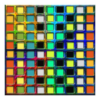 Colorful Grid-Tiled Photograph