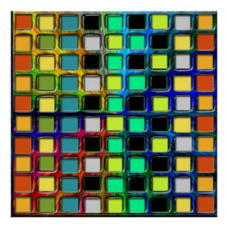 Colorful Grid-Tiled Poster