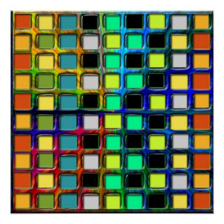 Colorful Grid-Tiled Perfect Poster