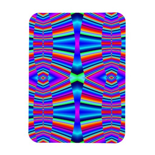 colorful groovy abstract pattern vinyl magnets