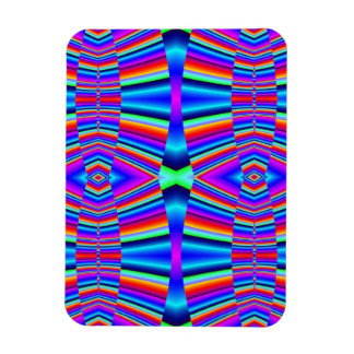 colorful groovy abstract pattern rectangular photo magnet