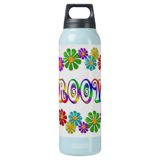 Colorful Groovy Insulated Water Bottle