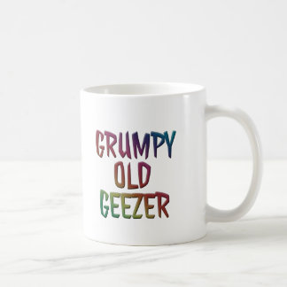 Colorful Grumpy Old Geezer Mug Cup