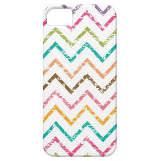 Colorful grunge chevron zig zag pattern iPhone 5 cases