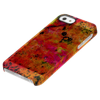 Colorful Grunge,hot red Uncommon Permafrost® Deflector iPhone 5 Case