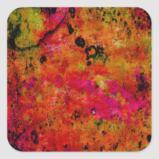 Colorful Grunge,hot red Sticker