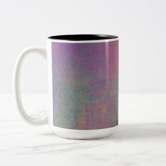 Colorful, Grungy Texture Abstract Remix Two-Tone Coffee Mug