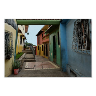 Colorful Guayaquil Alley Poster