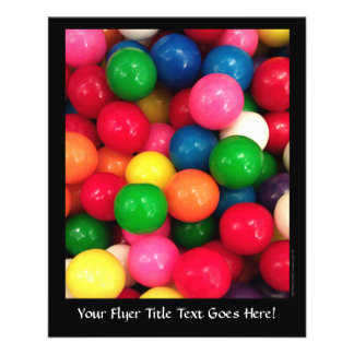 Colorful Gum Ball Candy 11.5 Cm X 14 Cm Flyer
