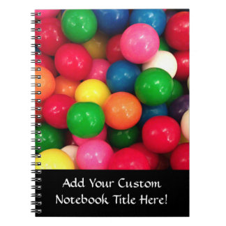 Colorful Gum Ball Candy Notebook