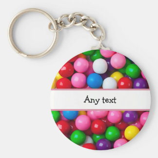 Colorful Gumball Graphic Key Ring