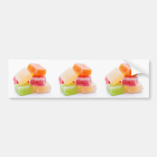 Colorful gummy square sweets bumper sticker