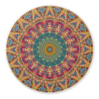 Colorful Gypsy Boho Chic Mandala Ceramic Knob