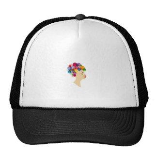 colorful hair cap