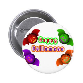 Colorful Halloween Baseball Bats Pin