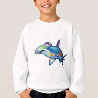 Colorful Hammerhead Shark by Robert Phelps Sweatshirt