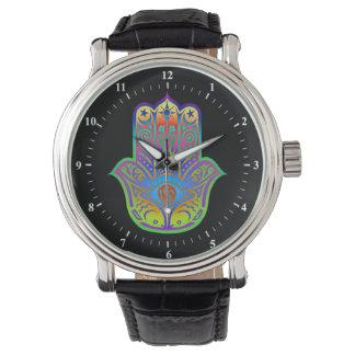 colorful hamsa amulet watch