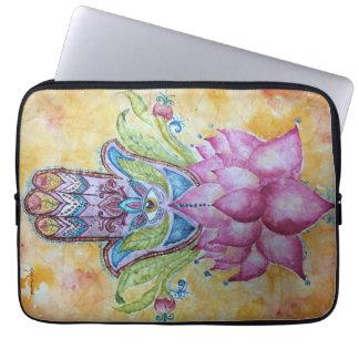 Colorful Hamsa Watercolor Laptop Sleeve