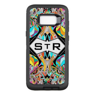 Colorful Hand Drawn Abstract I Monogram Initials OtterBox Defender Samsung Galaxy S8+ Case