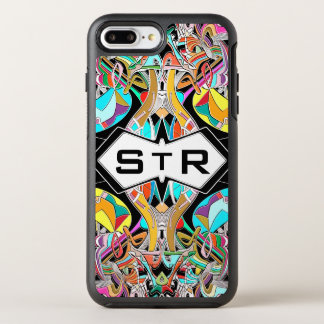 Colorful Hand Drawn Abstract I Monogram Initials OtterBox Symmetry iPhone 8 Plus/7 Plus Case