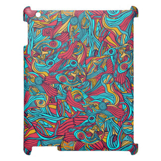 Colorful hand drawn abstract pattern design iPad case